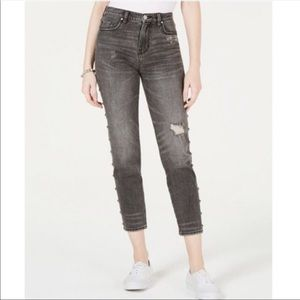 Kendall+Kylie black studded jean